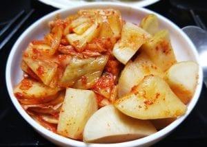 Bowl of Kimchi, traditional dish of South Korea