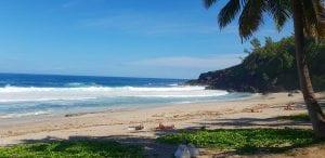One of Reunion Island's many sandy beaches.