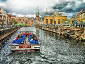 Copenhagen canal boat ride, Denmark