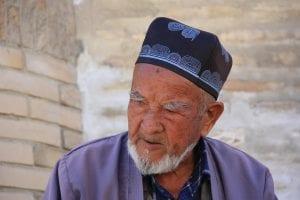An elderly Uzbek man