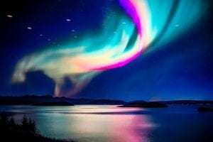 A stunning swirl of natural light - the northern lights