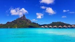 The incredible looking resort of Bora Bora in French Polynesia