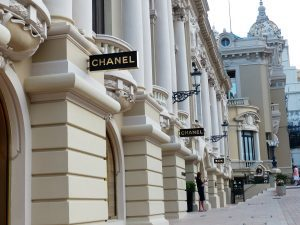 Chanel store front in Monaco