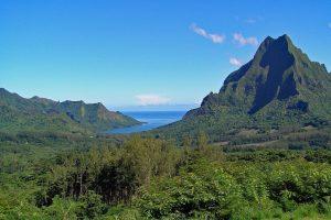 a tropical mountain in French Polynesia