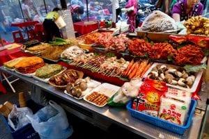 Food for sale, Namdaemun Market, South Korea