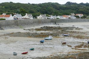 Coastal village on Guernsey
