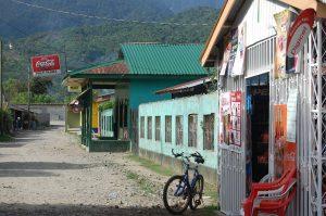 A dusty street in Honduras