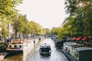 canal boats in the Netherlands