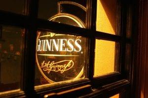 Illuminated Guinness sign