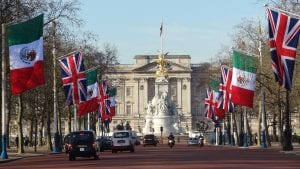 View of Buckingham Palace from the Mall