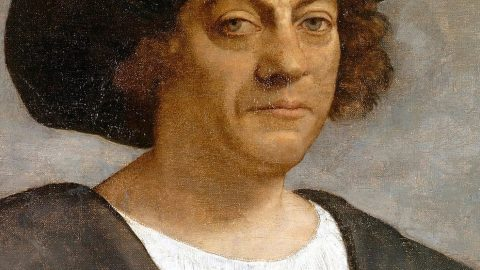 portrait painting of christopher columbus
