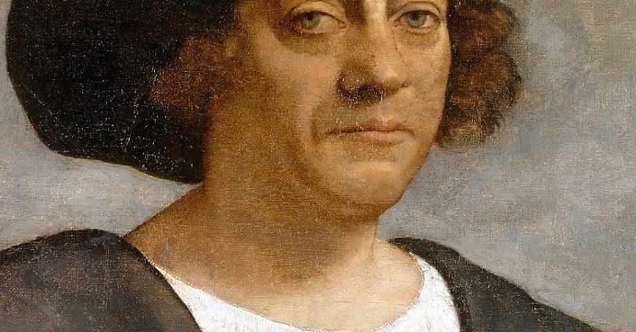 portrait painting of christopher columbus