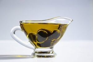 a jug of olive oil