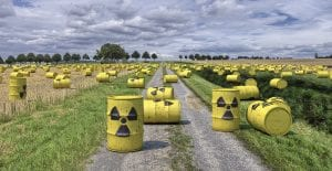 Nuclear waste pollution