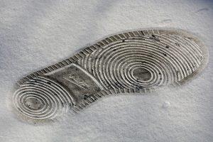 Nike footprint in the snow