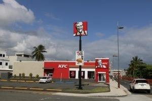 A KFC Drive thru
