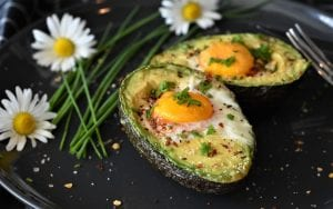 avocados baked with eggs