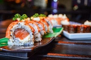 nutrition facts for sushi