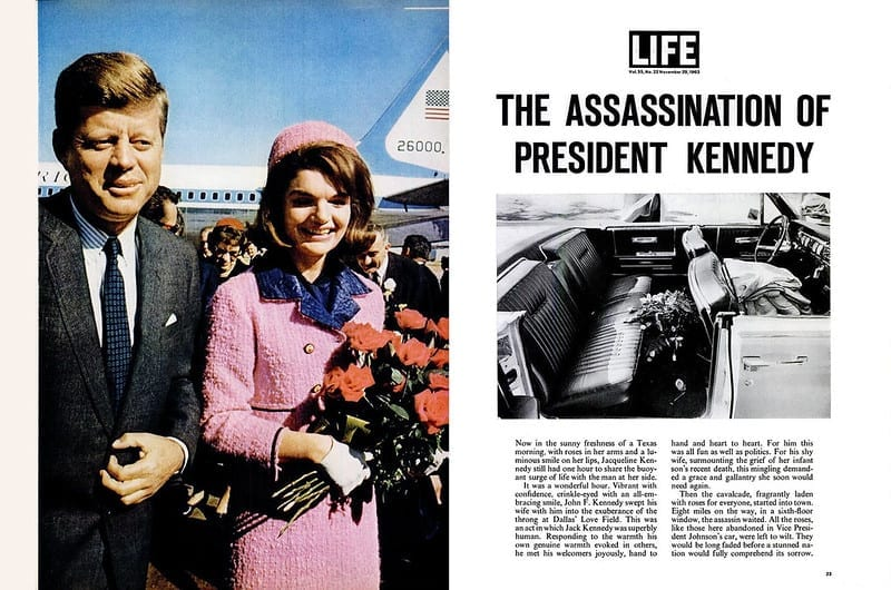 Life magazine article about the assassination of President Kennedy
