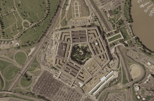 The Pentagon from directly above