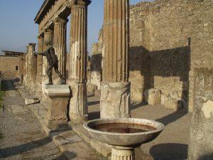 column ruins of Pompeii
