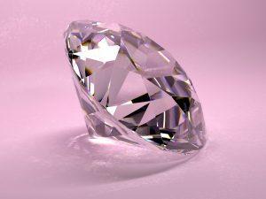 A pink diamond