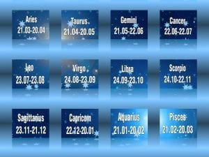 Star sign date chart