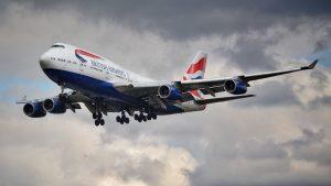 British Airways Boeing 747 coming in to land