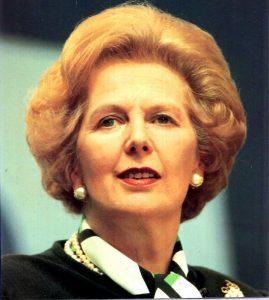 Margaret Thatcher - UK prime minister 1979 to 1990