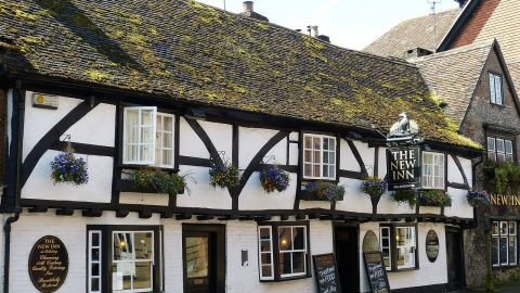 Old pub in Wiltshire, The New Inn