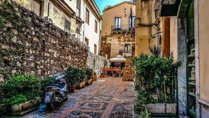 A small back street restaurant, Sicily