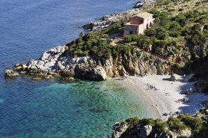 a Sicilian beach