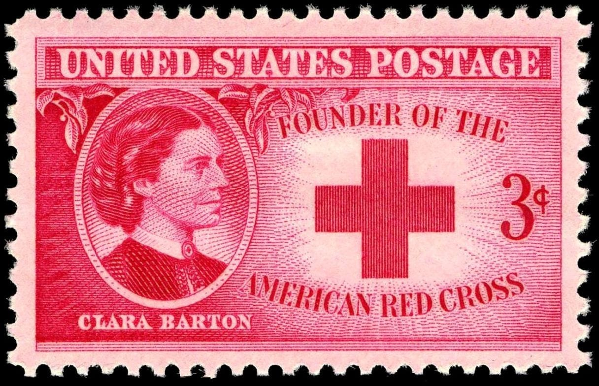 US Postage stamp for the Red Cross