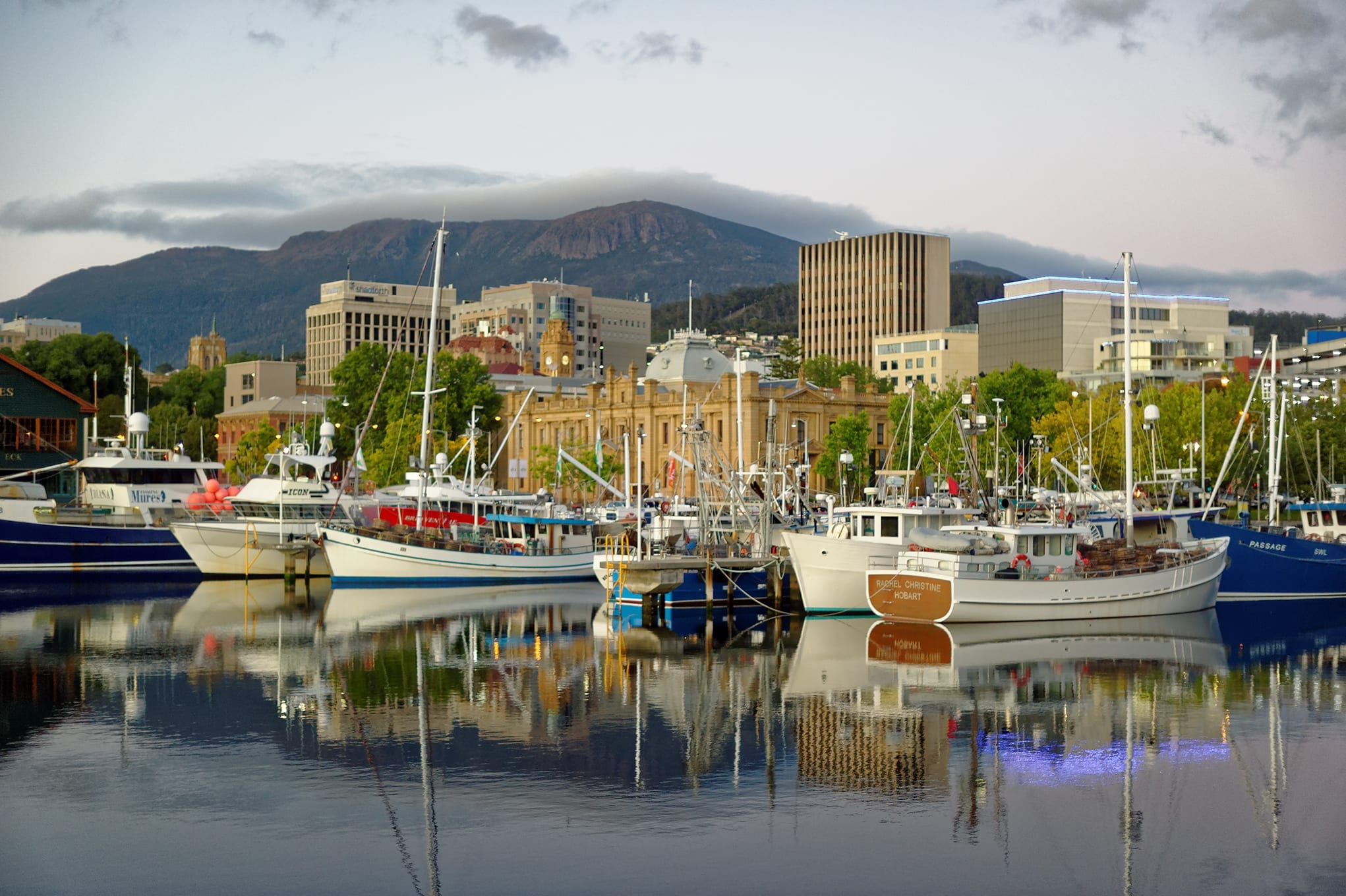 Hobart marina, Tasmania