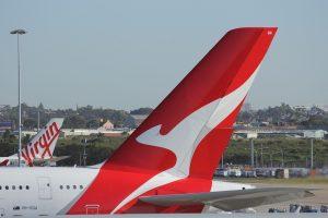 Qantas plane, Sydney Airport