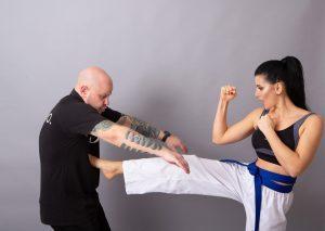 Karate being used in self defence