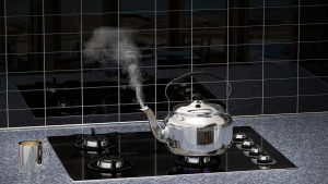 a kettle boiling