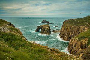 The rough Cornish coast