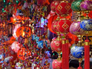 Red chinese lanterns in Chinatown