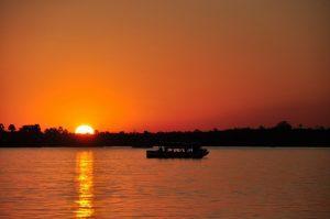 Sunset on the Zambezi River, Zimbabwe