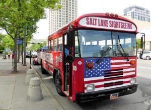 Salt Lake Sightseeing tour bus