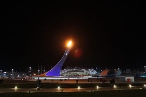 The Sochi Olympic Games Flame