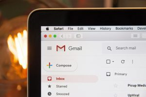Gmail being used on a tablet