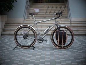a titanium bicycle