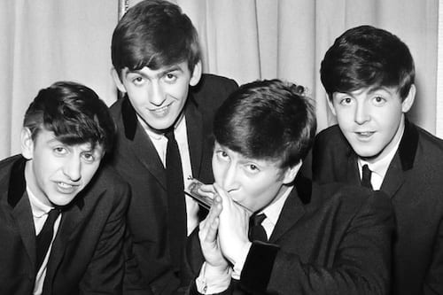 Group photo of the Beatles