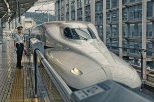 Shinkansen Bullet Train, Kyoto