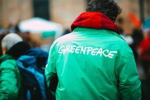 Greenpeace charity worker