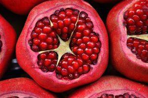 pomegranate fruit - a delicious vegan treat